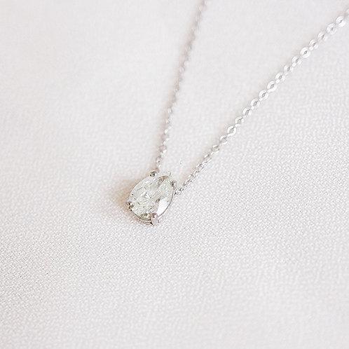 Large Pear Diamond Necklace
