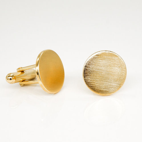 Brushed Gold Cuff Links