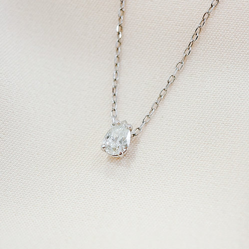 Pear Solitaire Diamond Necklace
