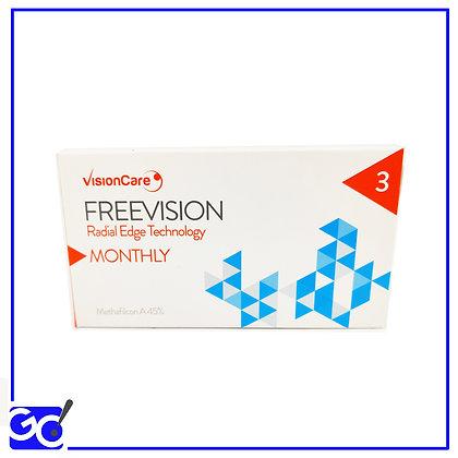 Lente a Contatto Mensile Freevision - Confezione da 3 Lenti mensili