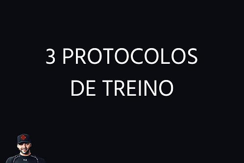 Três protocolos de treinos - Online