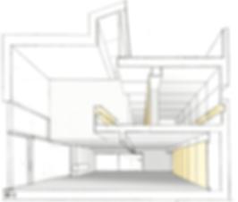 Sezione architettonica casa Veragouth