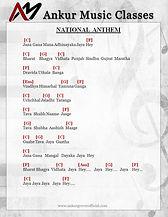 India National Anthem Chord Piano Guitar