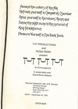 Tut Tut Tut Party, September 1978