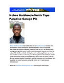 Kobna Holdbrook-Smith, Larry Levan, Deadline