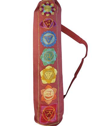 Stunning Chakra Design Yoga Mat Bag in Delightful Red