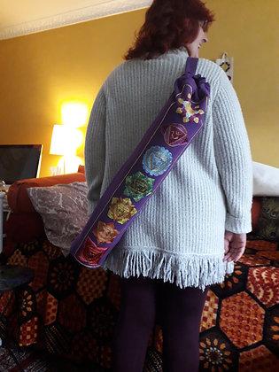 Stunning Chakra Design Yoga Mat Bag in Amazing Purple