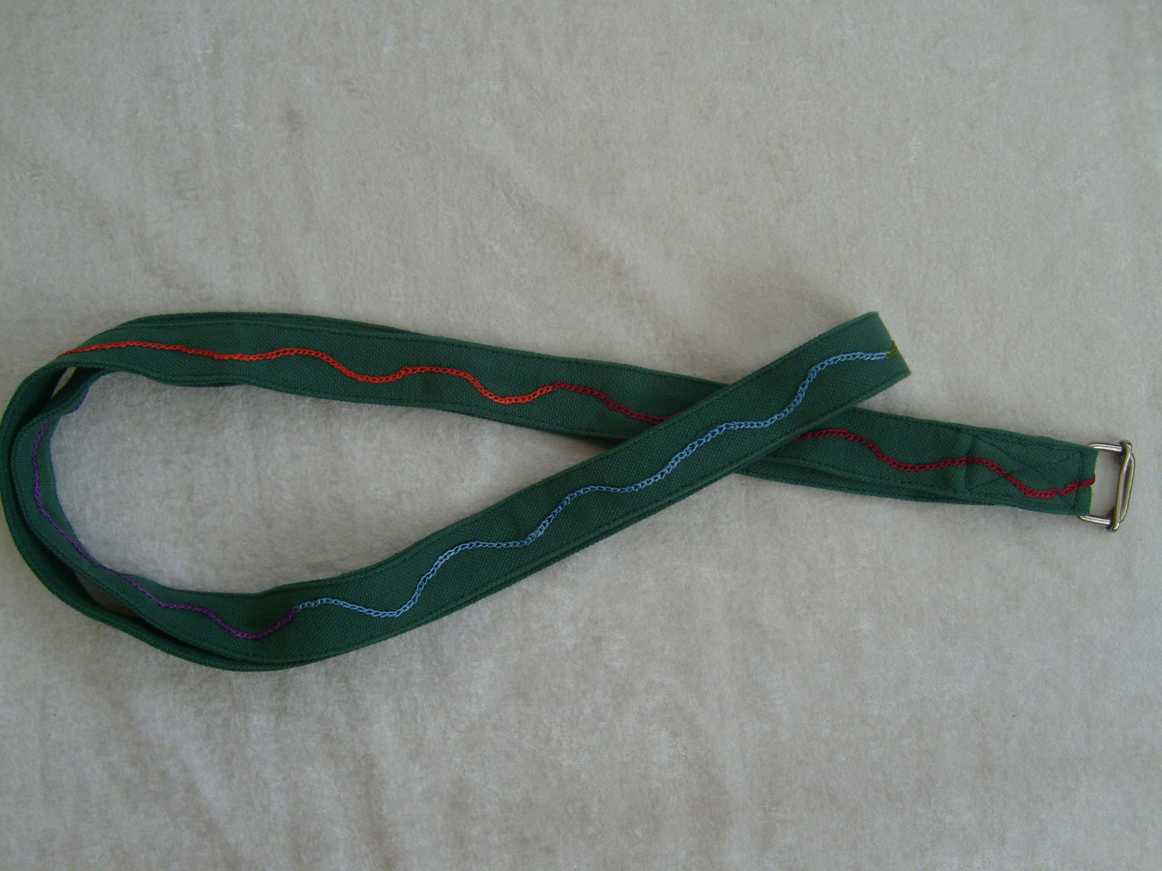 Green Yoga Belt