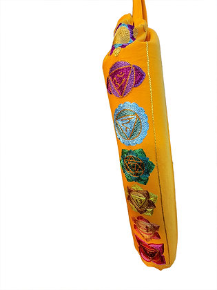 Sunning Chakra Design Yoga Mat Bag in Gorgeous Orange