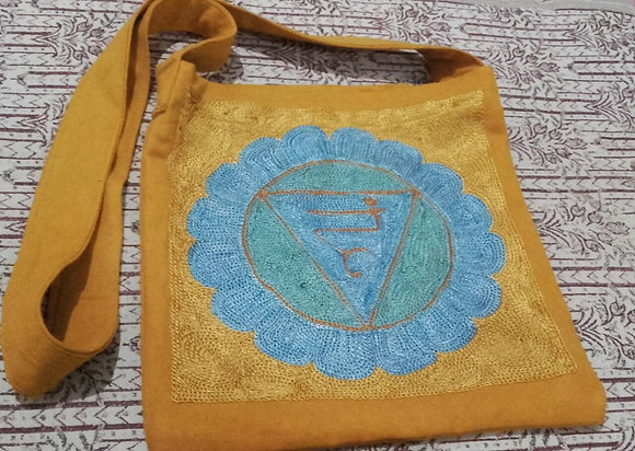 Rainbow Magic Throat Chakra Design Shoulder Bag