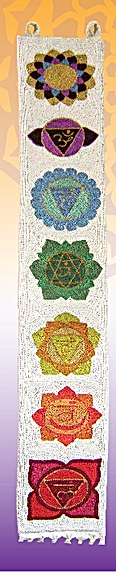 Seven Chakra design wall hanging