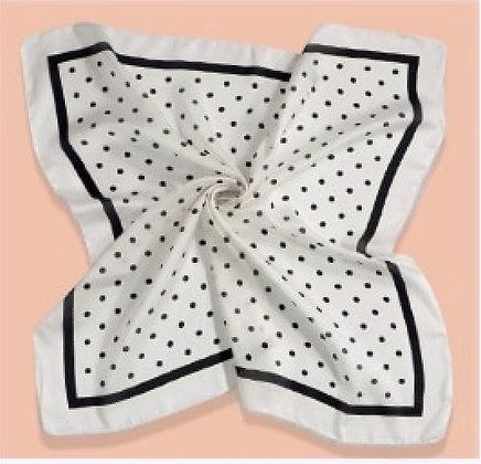 White Polka Dot Square