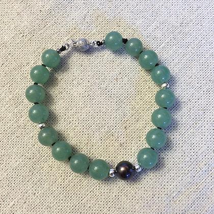 Black Pearlet Bracelet - Jade