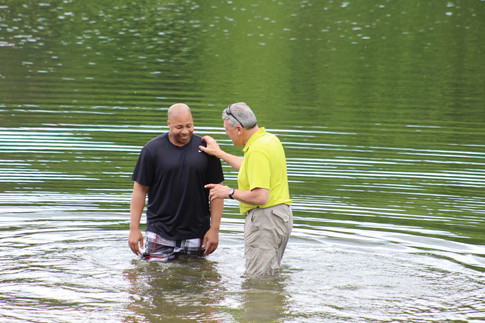 Baptism at the waterfront.