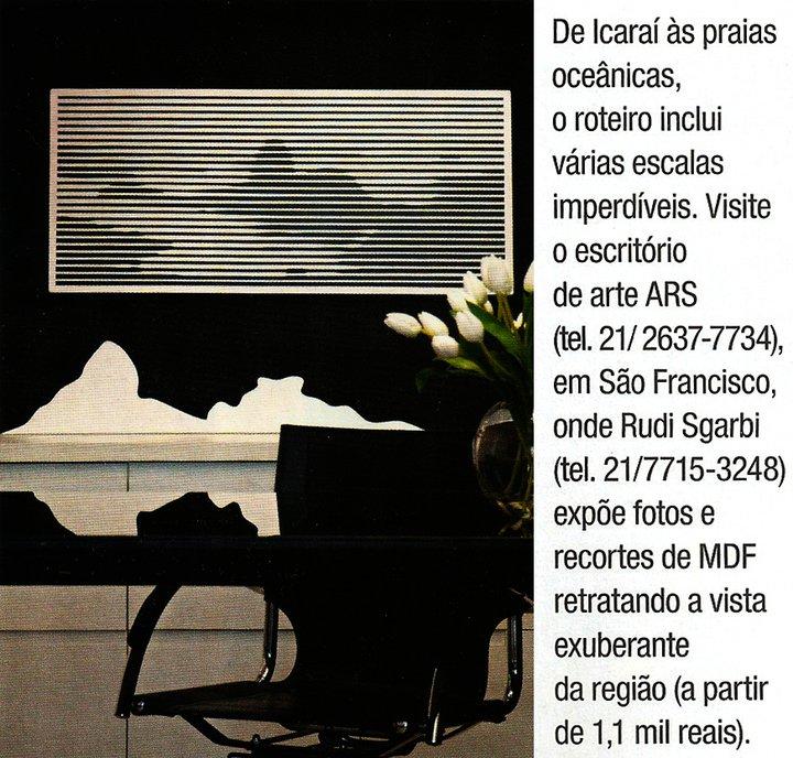 Matéria veiculada na revista Casa Claudia (Ano 35, n. 03 - mar 2011)
