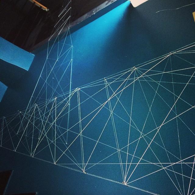 La Splendens Factory - Paris_Site Specific _Point & Line__3 walls, 1 stair