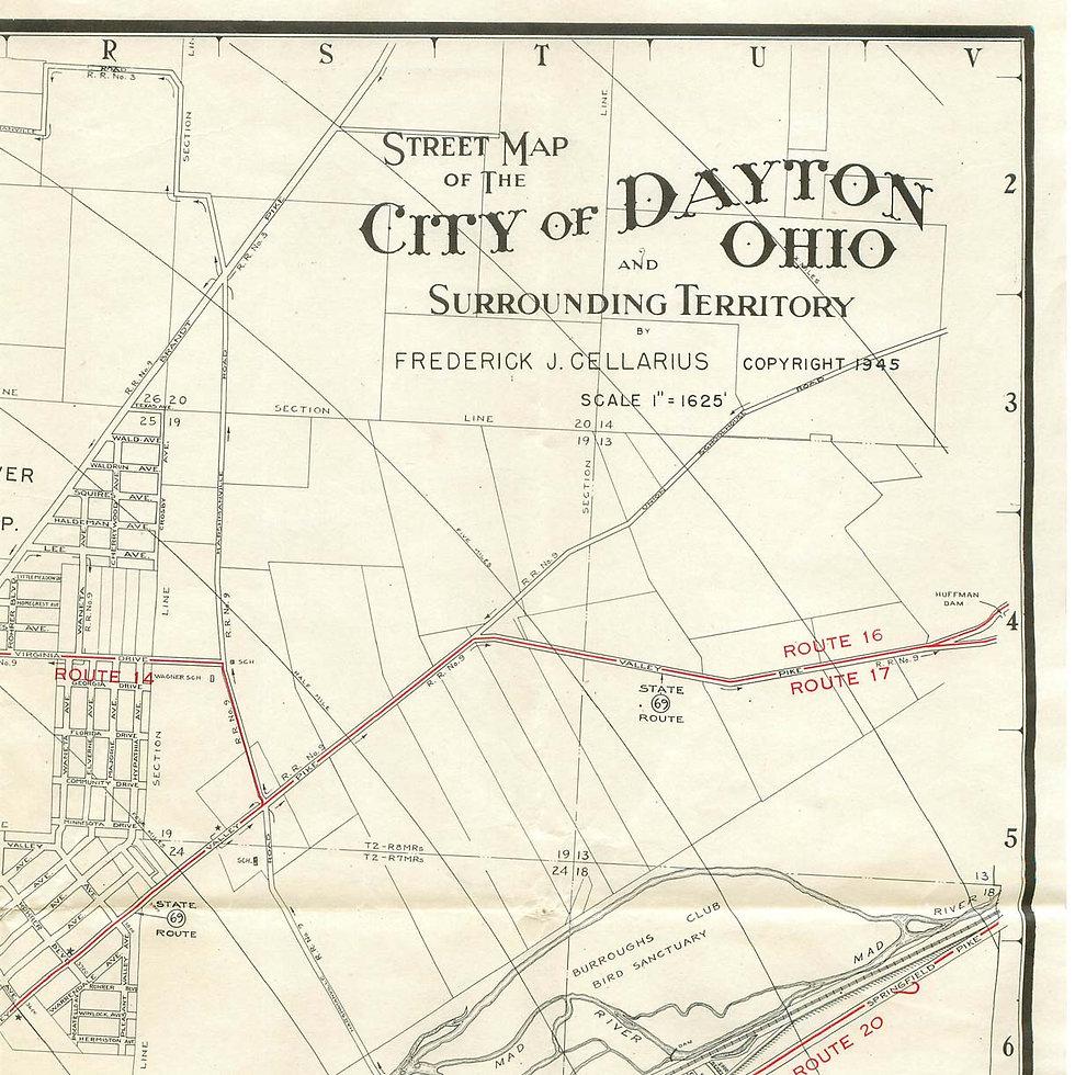 Map of Dayton Ohio
