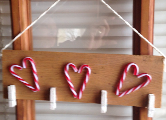 Candy Cane Hearts Wall/Door Hanging