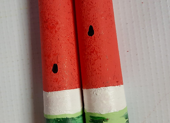 "Watermelon 10"" Taper Candles"