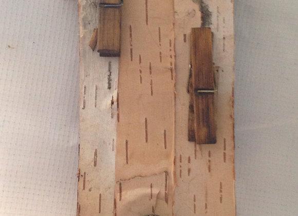 Hanging Birch Wood Organizer