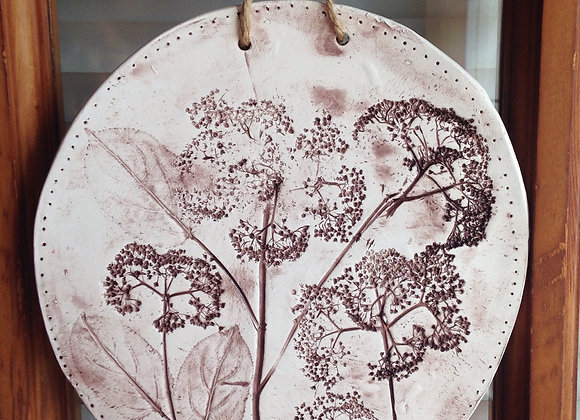 Ceramic Floral Wall Hanging