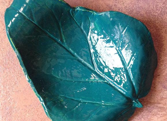 Large Ceramic Leaf Dish