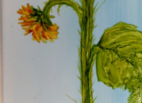 Tall Sunflower Triptych