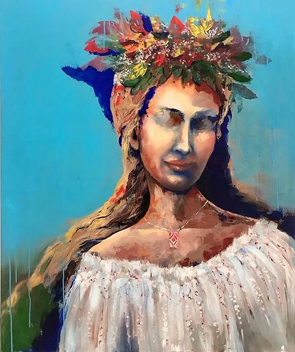Doina, oil on canvas, 120x140cm