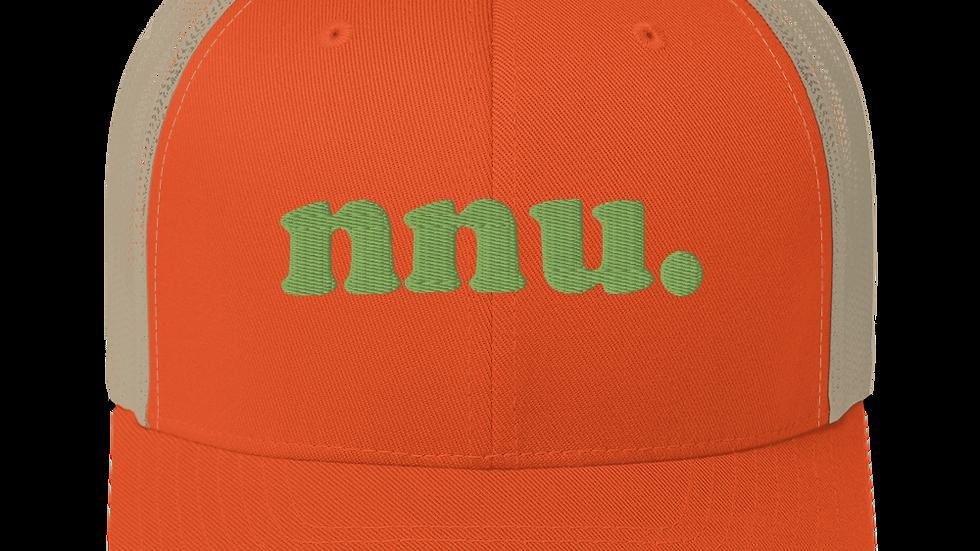 nnu. Trucker Cap Khaki/Orange