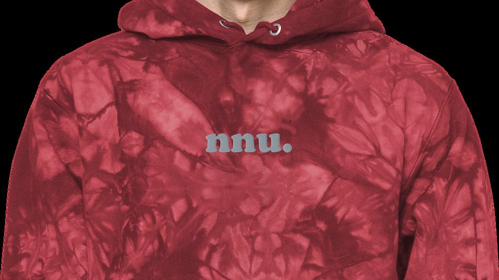 nnu. Red tie-dye hoodie