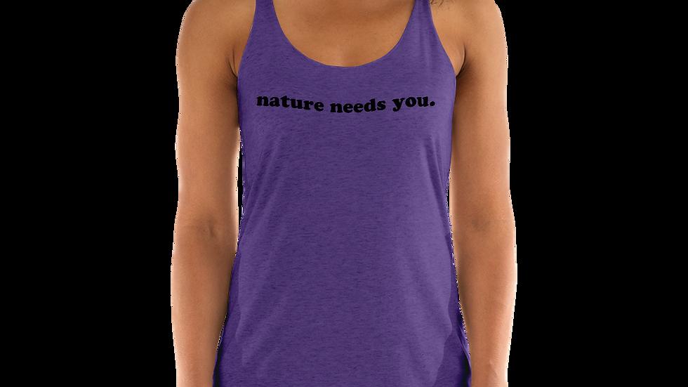 nature needs you. Purple Rush Tank