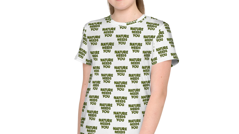 nature needs you. Youth All Over Print White