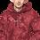 Thumbnail: nnu. Red tie-dye hoodie