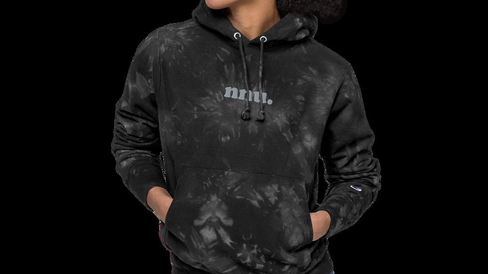 nnu. Black tie-dye hoodie