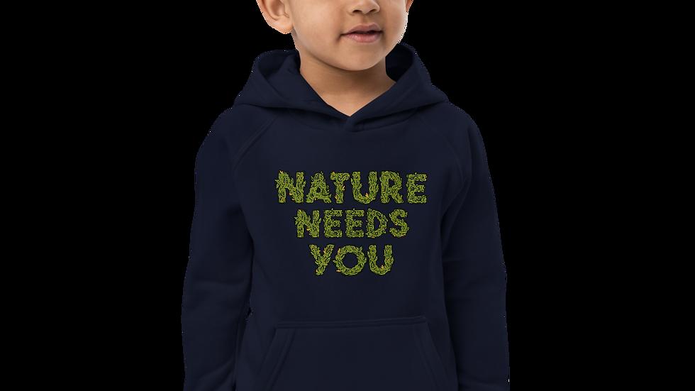nature needs you. Kids Hoodie