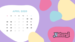Pastel Abstract Shapes Monthly Calendar