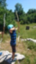 arc nature, parcours biathlon, tir à 'arc en forêt, sortie adolescents