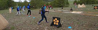 archery tag , tag archry , archery conuest, battle archery, bataille d'arc , combat tir à l'arc ,tir à l'arc en équipes, adolescent, enfants , anniversaire , moving archery