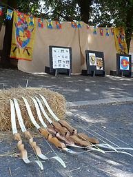 médiéval , chevalier, princesse ,thèmes personnalisés, anniversaire enfant 06, tir àl'arc