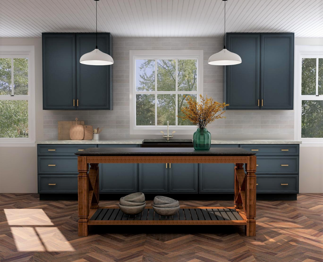Kitchen desiner 3D rendering