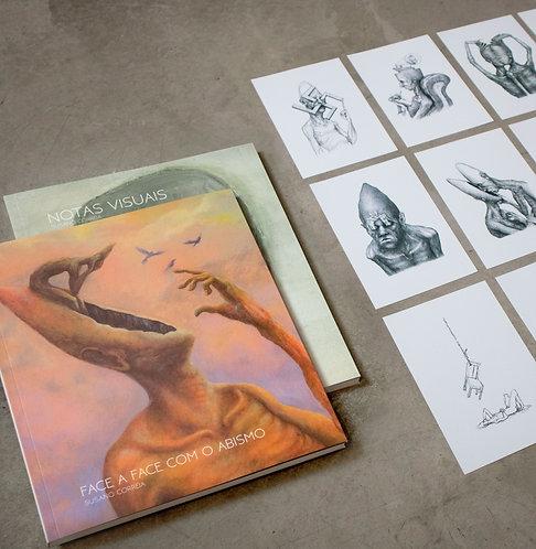 conjunto de livros - dedicado com desenho original na folha de rosto + 12 prints
