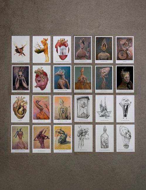 kit - 24 prints colecionáveis