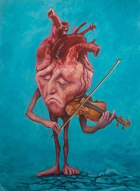 Pintura original - tocando com o coração