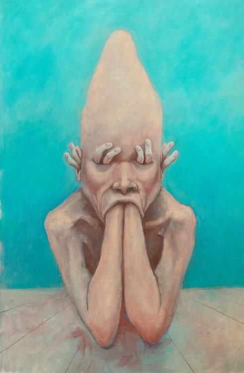 Pintura original - retrato da angústia