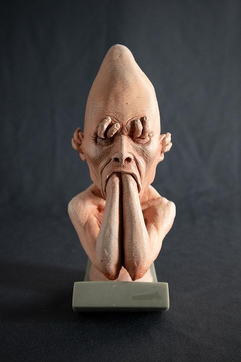 retrato da angústia - escultura colecionável