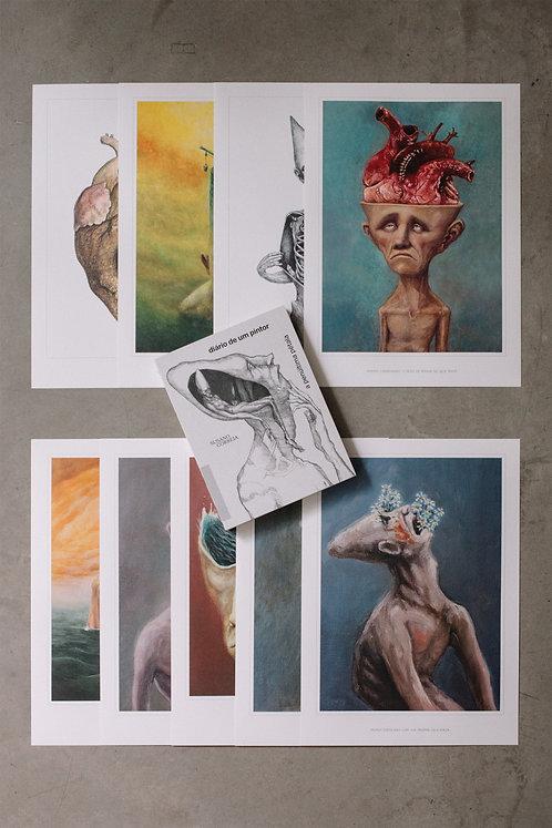 Livro - Diário de um Pintor + 9 posters - kit 3
