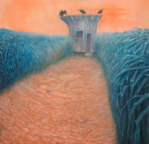 Pintura original - suicídio no galinheiro