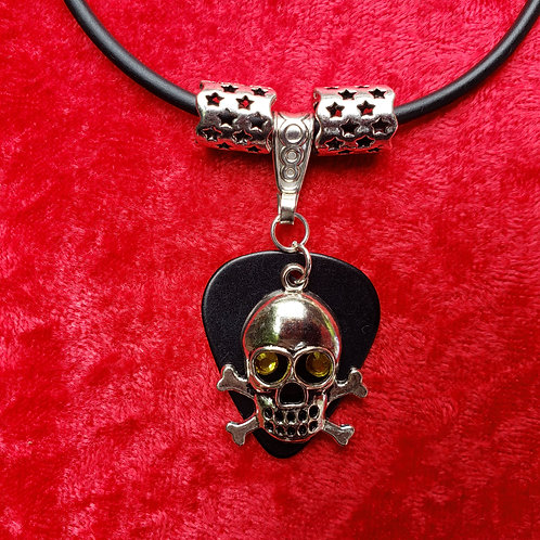 Skull - Guitar Pick Necklace