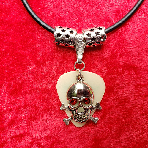 "Skull ""Glow"" Guitar Pick Necklace"