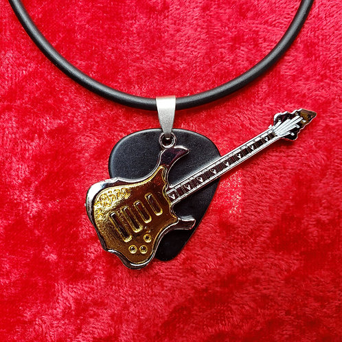 Metal Guitar - Guitar Pick Necklace
